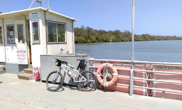 Noosa River ferry by bicycle