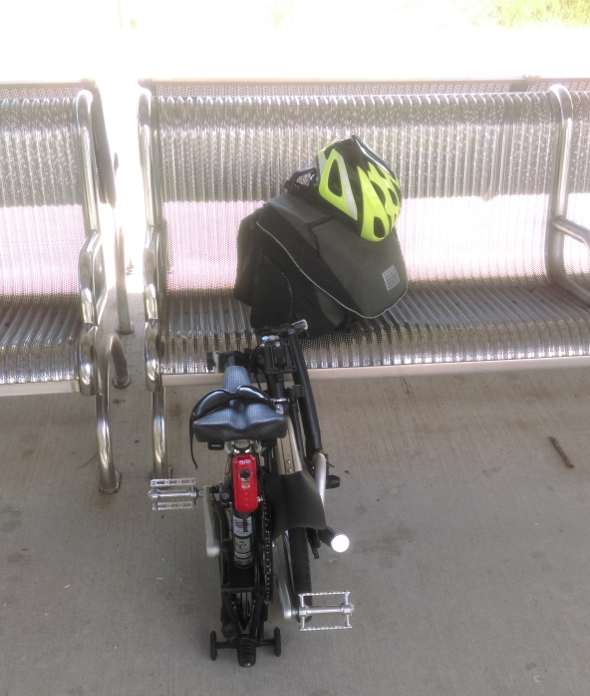 Bimodal commuting in Brisbane with Brompton bike and train