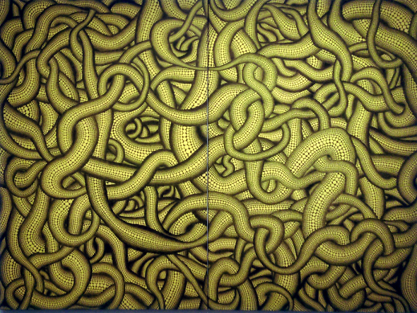 Yayoi Kusama yellow snake painting Gallery of Modern Art Brisbane