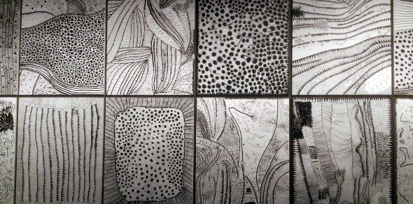 Yayoi Kusama black and white GOMA Brisbane
