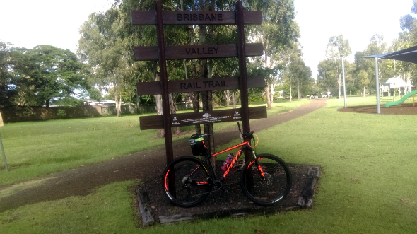 Brisbane Valley Rail Trail start at Fernvale Queensland