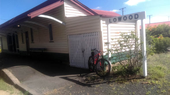 Ralway station in Lowood Queensland on the Brisbane Valley Rail Trail