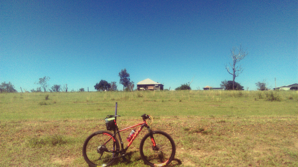 Cycling Lockyer Creek Brisbane Valley Rail Trail