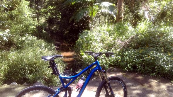 Spillway near Chermside Hills reserve