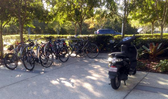 Westfield Chermside bicycle racks