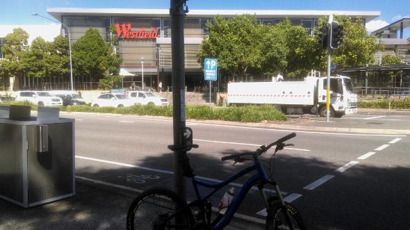 Westfield Chermside by bicycle