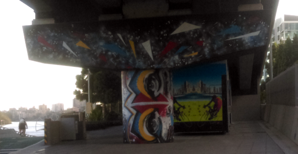 Brisbane bikeway street art