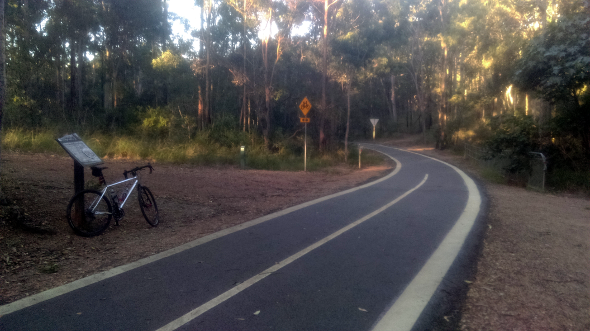 Ferny Grove Rail Trail sealed section for bicycles and pedestrians