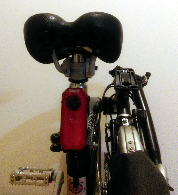 New Fly6 camera mounted to Brompton folding bike