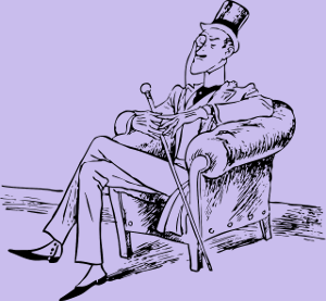 Man with monacle comic
