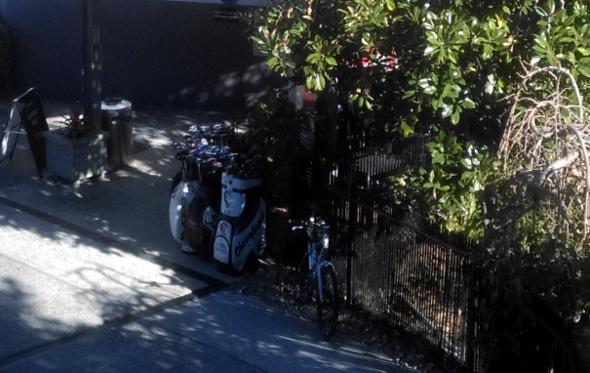 Bike locked at Victoria Park Golf Club