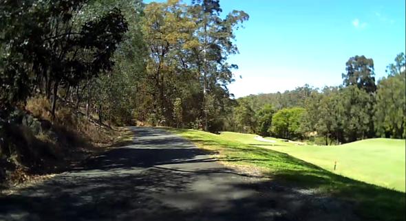 Ashgrove bikeway near golf course