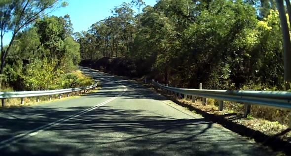 Road cycling Bunya Road hills