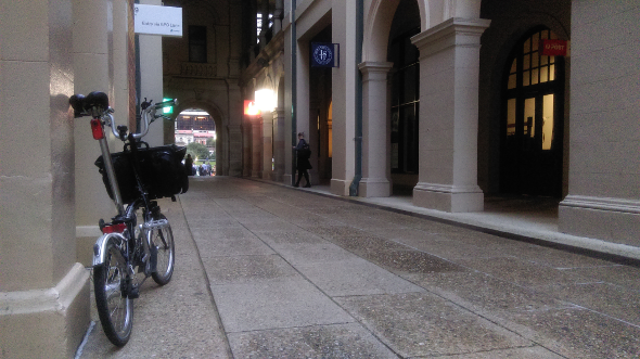 Brompton bike GPO Lane Brisbane CBD