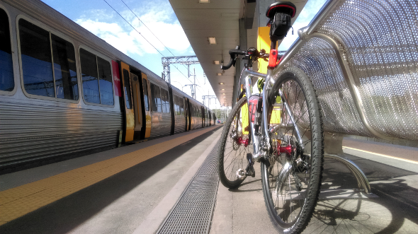 Sunshine Coast by train and bike