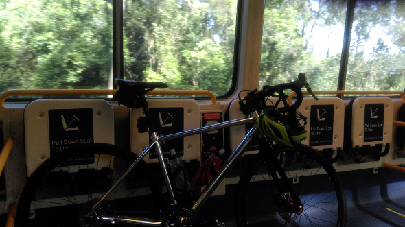 Travelling with bicycle on Queensland Railways train