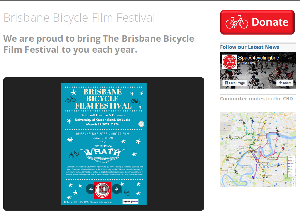 Brisbane Bicycle Film Festival 2019