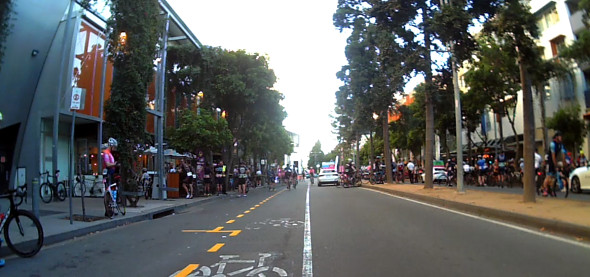 Tour de Brisbane cycling race start