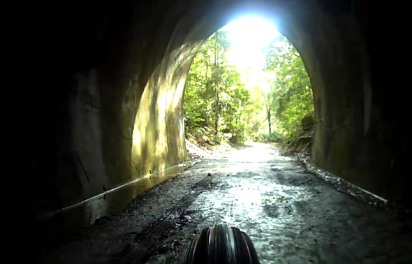 Inside the Dularcha railway tunnel