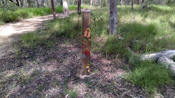 Deagon Wetlands Aboriginal art