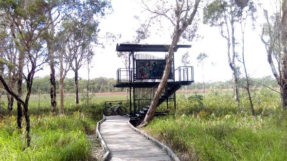 Deagon Wetlands observation tower