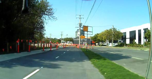North Brisbane Bikeway construction