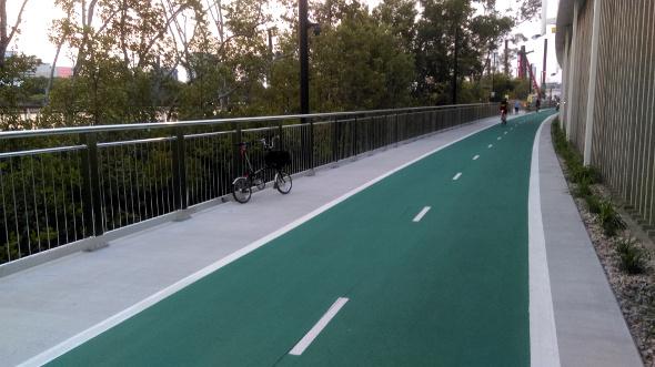Bicentennial Bikeway Brisbane new section