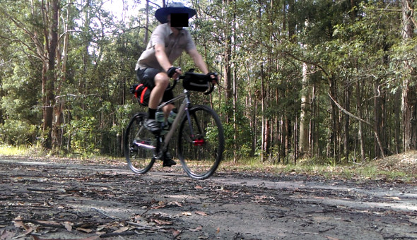 Cycling through Dularcha National Park