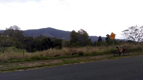 Mountain biking near the base of Mt Nebo Queensland