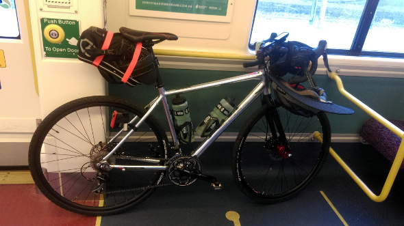 Bicycle on a train to Landsborough