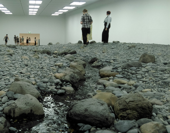 QAGOMA Water exhibition rock stream
