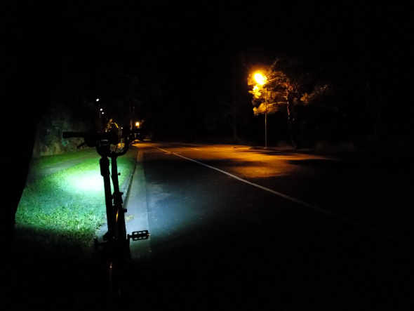 Brompton ride empty street