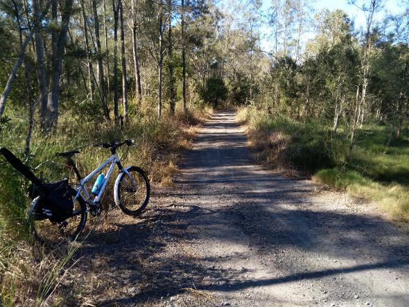Bush track fishing trip mountain bike