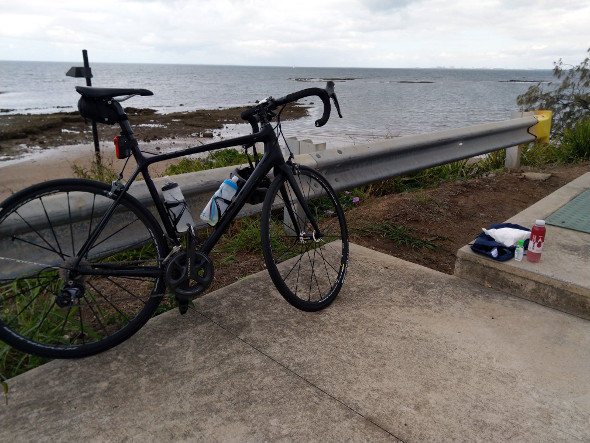 Lunch with road bike Redcliffe Queensland