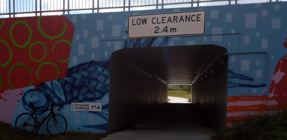 Tunnel bikeway at Bracken Ridge