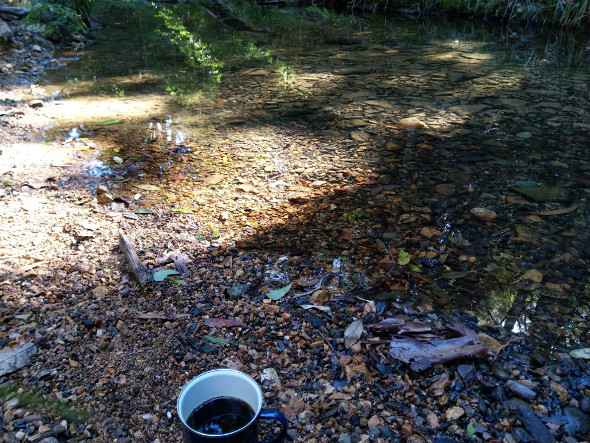 Coffee at Enoggera Creek D'Aguilar National Park Queensland