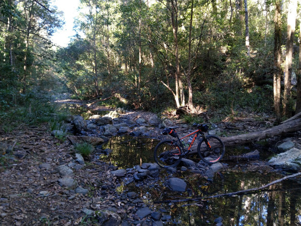 Enoggera Creek crossing mountain biking Hellhole Break