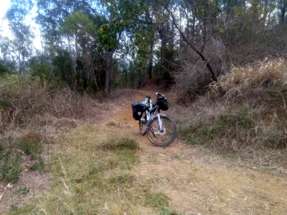 Bikepacking up the western side of Mt Nebo Queensland