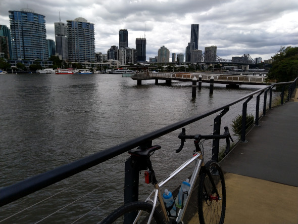 Brisbane City from the Riverwalk
