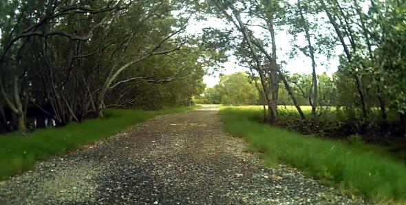 Gravel path off the Shultz Canal bikeway