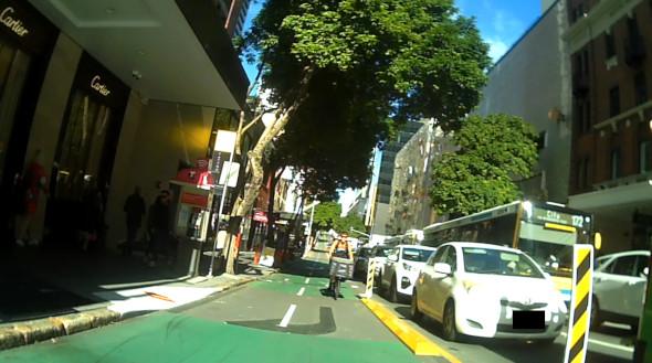 Bicycle courier in Brisbane CityLink bike lane