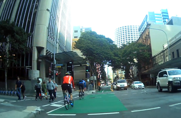 Commuter and recreational riders in CityLink bike lanes