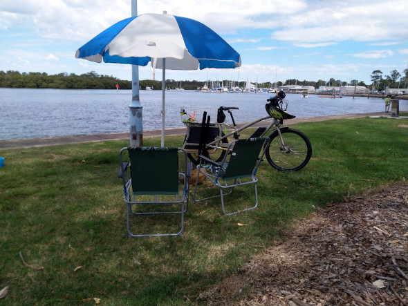Fishing with a cargo bike