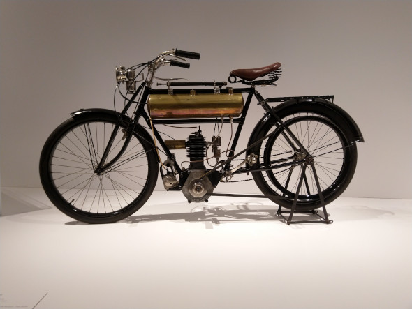 Motorbikes went through some interesting phases on their evolution from bicycles
