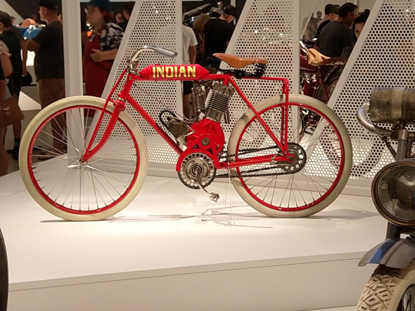 Early motorcycles were bicycles with a motor grafted on