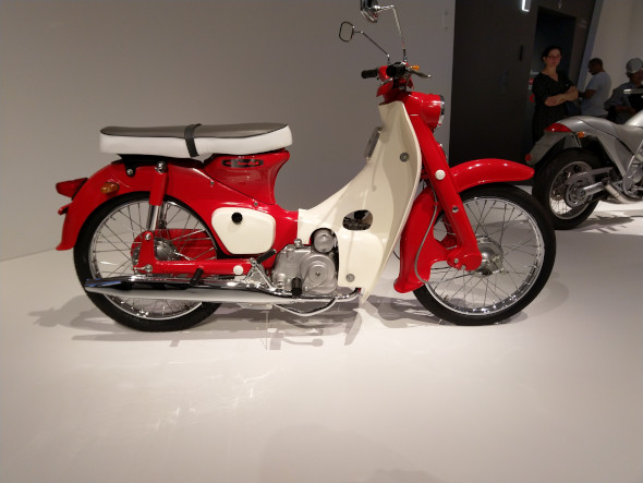To me the postie bike probably has all the power needed for a motorcycle