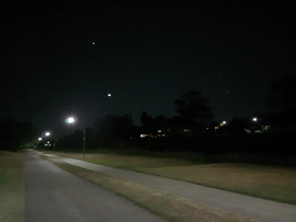 Kedron Brook bikeway Brisbane at night